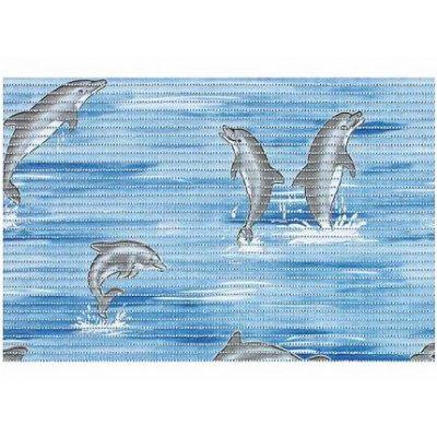 Bisk Dolphin mata piankowa 50x80 cm niebieska 01617