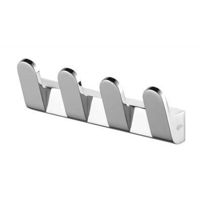 Bisk Futura silver wieszak 4-hakowy chrom 02980