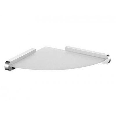 Bisk Futura silver półka narożna chrom 02984