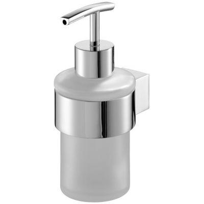 Bisk Futura silver dozownik do mydła z uchwytem chrom 02981