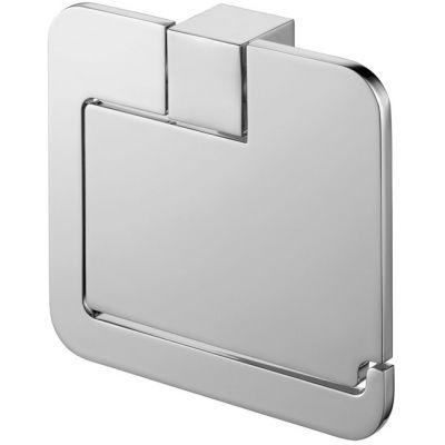 Bisk Futura silver uchwyt WC z klapką chrom 02991
