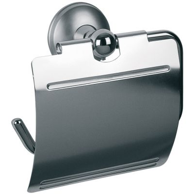 Bisk Dakota uchwyt WC z klapką chrom/satyna 71350
