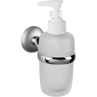 Bisk Dakota dozownik do mydła z uchwytem chrom/satyna 71775