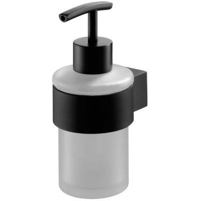Bisk Futura black dozownik do mydła z uchwytem czarny 02953