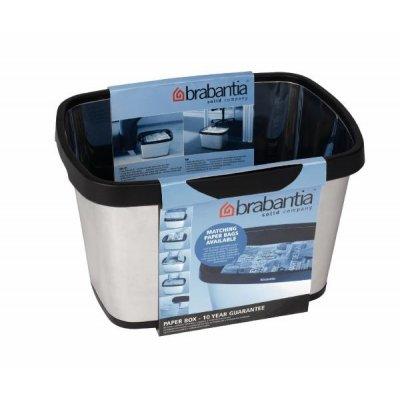 Brabantia pojemnik na makulaturę 10 L stal polerowana 395567
