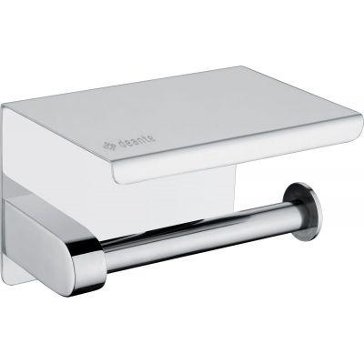 Deante Round uchwyt na papier toaletowy z półką chrom błyszczący ADR0221