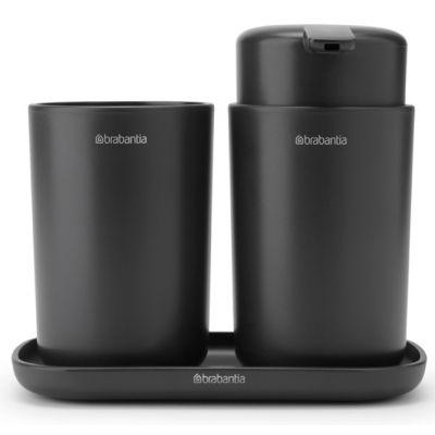 Brabantia ReNew zestaw akcesoriów łazienkowych 3w1 szary 280368