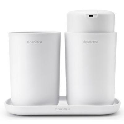 Brabantia ReNew zestaw akcesoriów łazienkowych 3w1 biały 280382