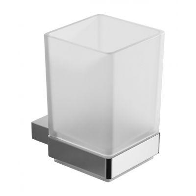 Excellent Riko kubek na szczoteczki szkło mrożone/chrom DOEX.1604CR