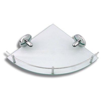 Ferro Metalia 1 półka narożna szklana z relingiem 6158.0