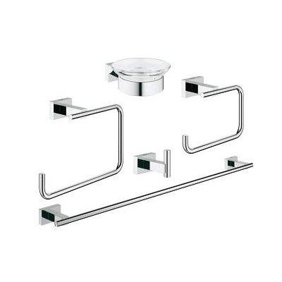 Grohe Essentials Cube zestaw akcesoriów łazienkowych 5w1 Master 40758001