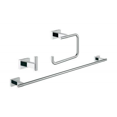 Grohe Essentials Cube zestaw akcesoriów łazienkowych 3w1 Guest 40777001