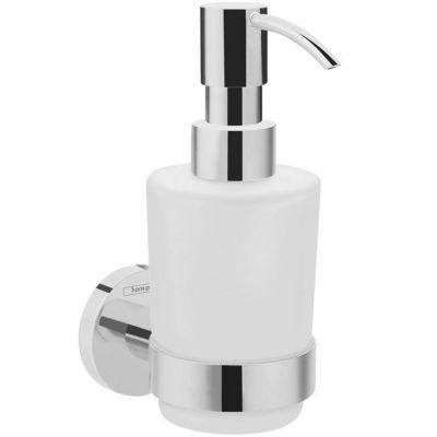Hansgrohe Logis Universal dozownik do mydła chrom/szkło białe 41714000