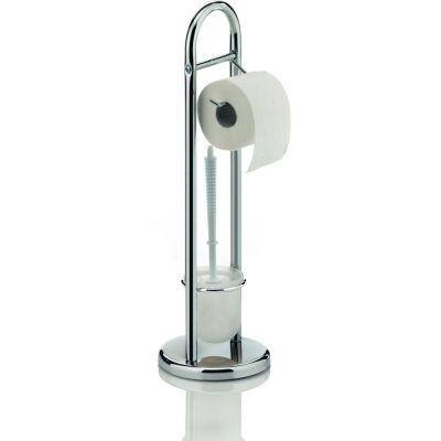 Kela Fabio stojak na papier toaletowy ze szczotką WC chrom 18002
