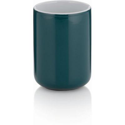 Kela Isabella kubek do mycia zębów ceramika ciemnozielona KE-20513