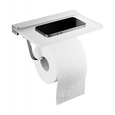 Oltens Vernal uchwyt na papier toaletowy z półką chrom 81110100