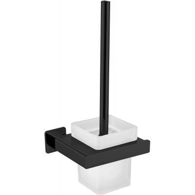 Omnires Nelson szczotka toaletowa wisząca czarny mat NL80620BL