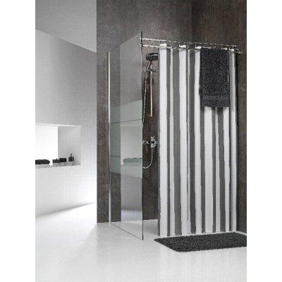 Sealskin Linje zasłona prysznicowa tekstylna 180 cm szara 233011314