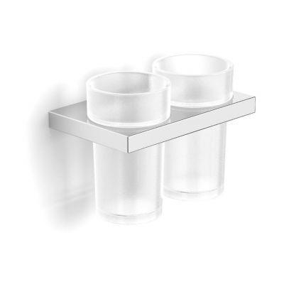 Stella New York uchwyt z dwoma szklankami szkło matowe/chrom 05.412