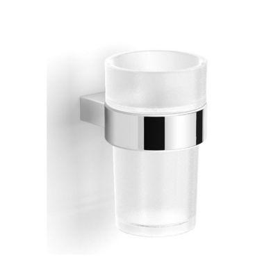 Stella Soul uchwyt ze szklanką szkło matowe/chrom 06.411