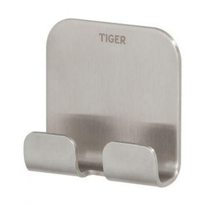 Tiger Colar wieszak na ręcznik podwójny stal 13146.3.09.46