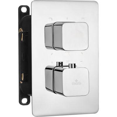 Deante Box bateria wannowo-prysznicowa podtynkowa termostatyczna chrom BXY0ECT
