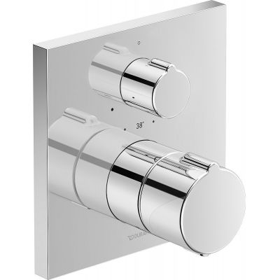 Duravit C.1 bateria prysznicowa podtynkowa termostatyczna chrom C14200015010