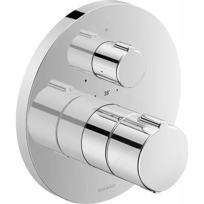 Duravit C.1. bateria prysznicowa podtynkowa termostatyczna chrom C14200016010