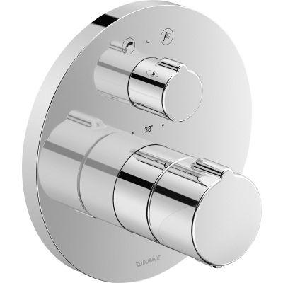 Duravit C.1 bateria wannowo-prysznicowa podtynkowa termostatyczna chrom C15200014010
