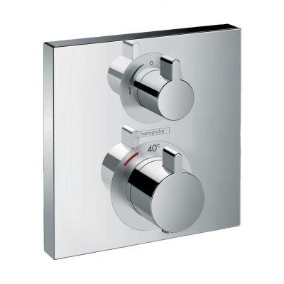 Hansgrohe Ecostat Square bateria wannowo-prysznicowa podtynkowa termostatyczna chrom 15714000
