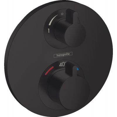 Hansgrohe Ecostat S bateria wannowo-prysznicowa podtynkowa termostatyczna czarny mat 15758670