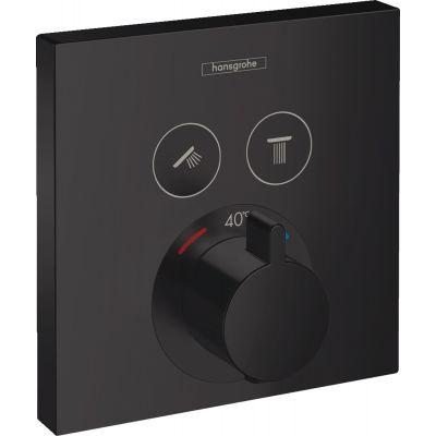 Hansgrohe ShowerSelect bateria wannowo-prysznicowa podtynkowa termostatyczna czarny mat 15763670