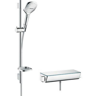 Hansgrohe Raindance Select E zestaw prysznicowy ścienny termostatyczny chrom 27038000