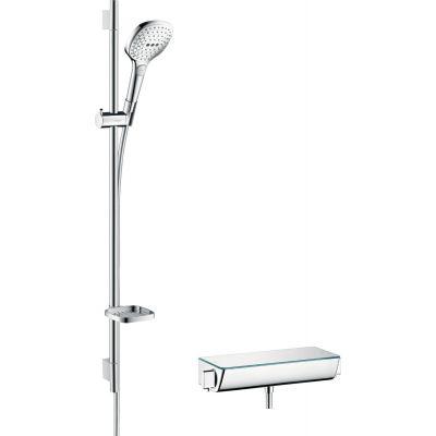 Hansgrohe Raindance Select E zestaw prysznicowy ścienny termostatyczny biały/chrom 27039400
