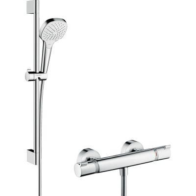 Hansgrohe Croma Select E zestaw prysznicowy ścienny termostatyczny biały/chrom 27081400
