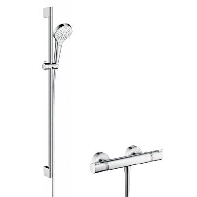 Hansgrohe Ecostat Croma Select S bateria prysznicowa termostatyczna z zestawem prysznicowym Vario/ Combi 0,9 m 27014400
