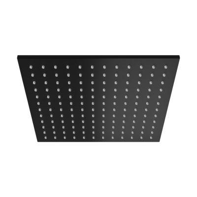 Kohlman Experience Black deszczownica 25 cm kwadratowa czarny mat Q25EB