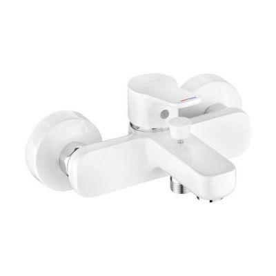 Kludi Pure&Easy bateria wannowo-prysznicowa ścienna biała/chrom 376819165