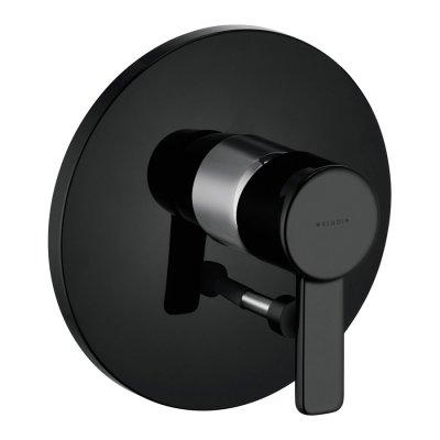 Kludi Zenta bateria wannowo-natryskowa podtynkowa czarny/chrom 386508675