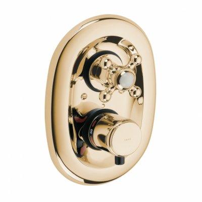 Kludi Adlon bateria prysznicowa podtynkowa termostatyczna pozłacana 517204520