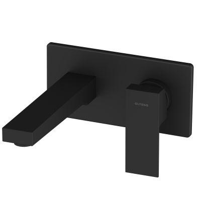 Oltens Gota bateria umywalkowa podtynkowa kompletna czarny mat 32601300