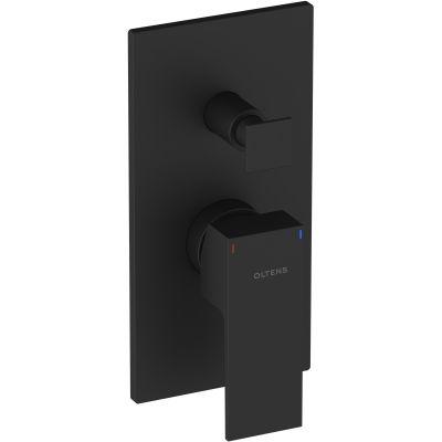 Oltens Gota bateria wannowa-prysznicowa podtynkowa kompletna czarny mat 34101300