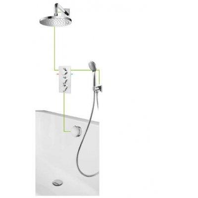 Omnires Y system wannowo-prysznicowy podtynkowy kompletny SYSS01