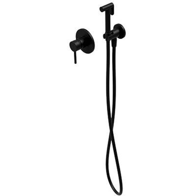 Omnires Y bateria bidetowa podtynkowa ze słuchawką prysznicową czarny półmat SYSYBI1BL