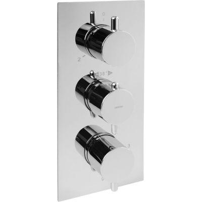 Omnires Y bateria wannowo-prysznicowa podtynkowa termostatyczna chrom Y1238/6