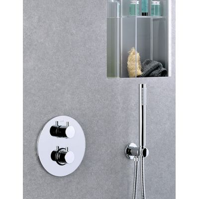Paffoni Light bateria wannowo-prysznicowa podtynkowa termostatyczna chrom LIQ018CR