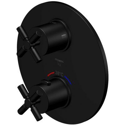 Steinberg 250 bateria wannowo-prysznicowa podtynkowa termostatyczna czarny mat 2504133S