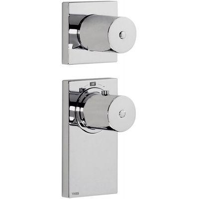 Tres Block System bateria wannowo-prysznicowa podtynkowa termostatyczna chrom 206.352.99