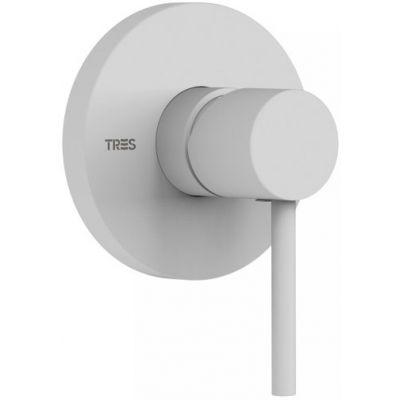 Tres Study Exclusive bateria prysznicowa podtynkowa biały mat 262.177.90.BM