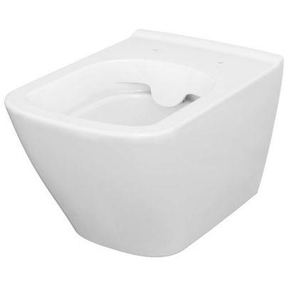 Cersanit City Sqaure miska WC wisząca CleanOn bez kołnierza biała K35-041